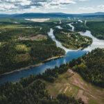 Fluss Glomma bei Rena